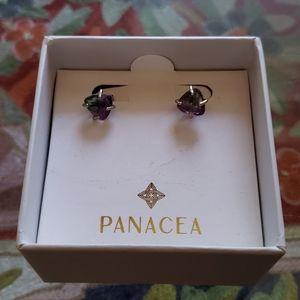 Green-Purple antique moonstone earrings